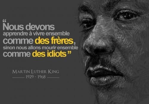 Citaten Martin Luther King : Seme ta rÉsistance un reve pour une vie